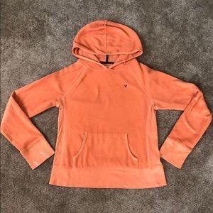 Orange fleece hoodie